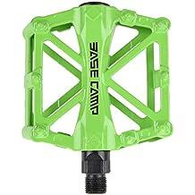 BaseCamp MTB Pedal de bicicleta marcos de la bici antideslizante bicicleta de carretera Ultra-ligero rodamiento de bolas aleacion de aluminio verde