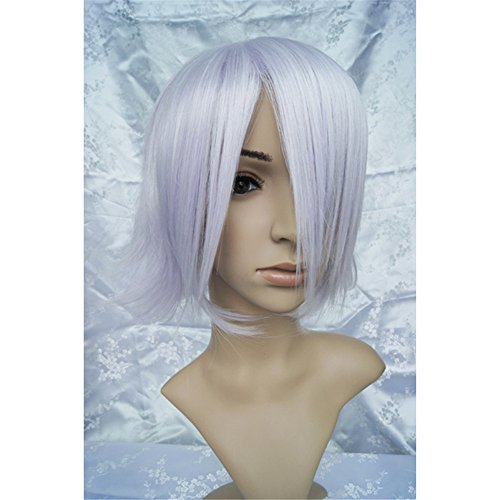 LanTing Cosplay Perücke Pandora Hearts Blake Purple Perücke Corta Cosplay Party Fashion Anime Human Costume Full wigs Synthetic Haar Heat Resistant (Blake Kostüm Halloween)