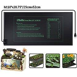 Ohuhu semis Tapis Chauffant 25x52cm, Tapis de Plantation pour Germination, Semis Jardinage Electronique Dispositif de Chauffage - avec Sac de Rangement