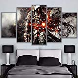 Dmhy Auf Leinwand Drucken Assassins Creed Spiel Anime 5 Panels Wand Kunst Gemälde Home Decor,A,40X60x2+40X80x2+40X100x1