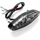 CICMOD Moto Universel Mini 15 LED Luz Trasera, Luz de Freno Lámpara Trasera, Impermeable a Prueba de Polvo