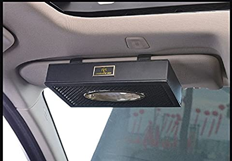New Car PU Leder auf die Tissue Box Creative KFZ Pumpen Aufhängen Halterung Sonnenblende Tissue Box Papier Serviettenhalter