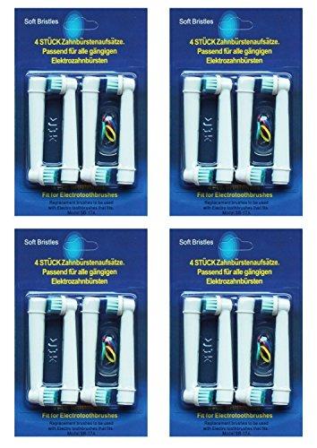 Reemplazo del Cepillo de Dientes de Oral B Cabezas de Cepillo de Dientes Eléctricas Compatibles Retira Cálculo Dental y Disminuye la Gingivitis    Paquete de 16