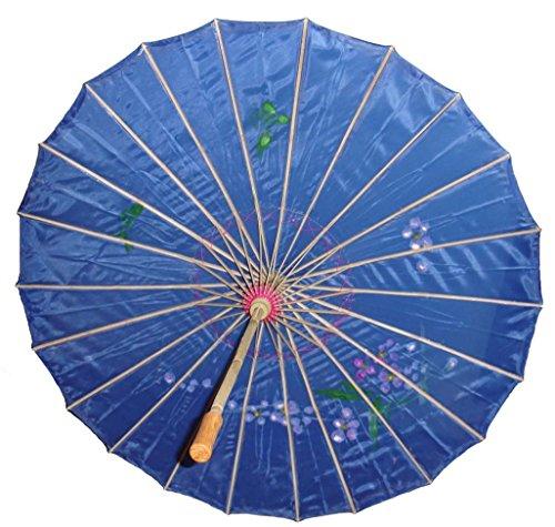 Danapp Vintage Chinese Style Eleganter Handgemachter Papierschirm Sonnenschirm Sonnenschirm, blau, 1