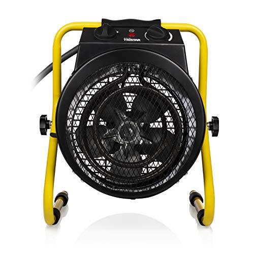 Tristar KA-5062 - Stufa elettrica con ventilatore, resistente agli spruzzi, colore: Nero/Giallo