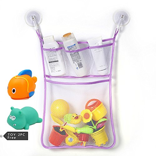 Sac Jouet de bain , Chickwin bébé Jouet de Bain Sac de rangement en maille rangement en maille jouets de bain (I)