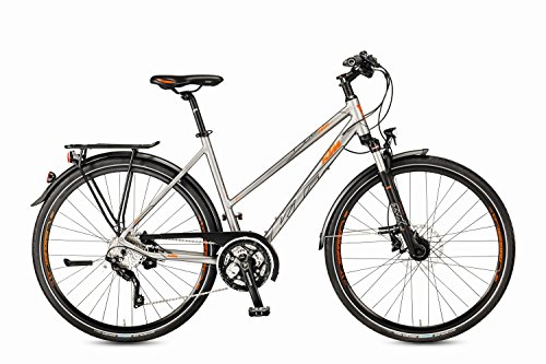 KTM Life Tour Light Damen Trekkingrad 30 Gang 2017 grau matt orange RH 46, 14,30 kg