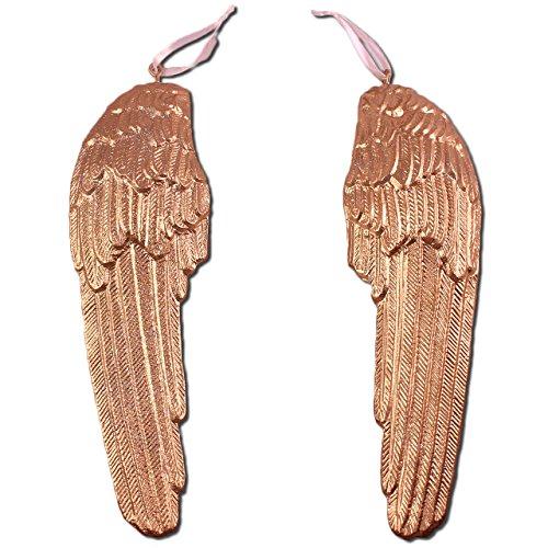 Grande paio di ali di angelo custode, decorazione da parete oro