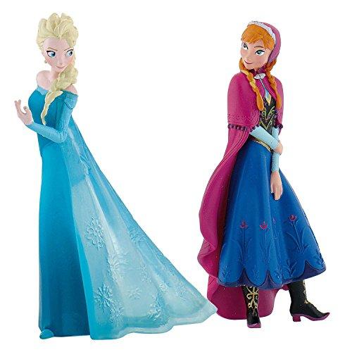 Bullyland 13063 - Spielfigurenset - Walt Disney Frozen Mini, Anna und Elsa