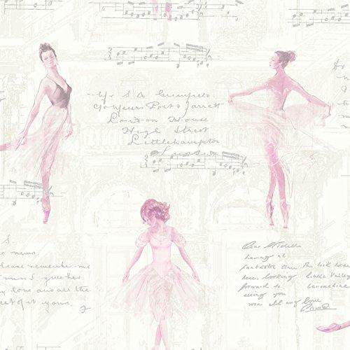 Arthouse 668200Pirouette Tapete, Pink, 53cm x 10,05m (Kinder Glitter-ballerinas)