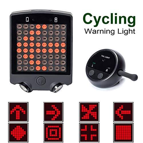 Jinxuny Fanale Posteriore per Bici a LED, indicatore Posteriore per Bici Indicatore di direzione Posteriore per Telecomando Senza Fili per Una Sicurezza ottimale in Bicicletta