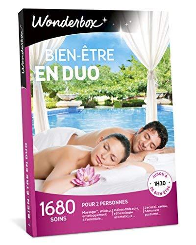 Wonderbox - Coffret cadeau couple - BIEN-ETRE EN DUO - 1680 massages, sauna, shiatsu,...