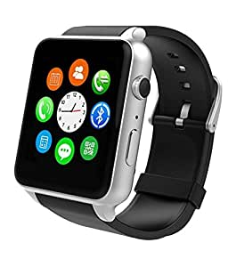 Benq B50 Compatible Certified Bluetooth Smart Watch GT08 Wrist Watch Phone with Camera & SIM Card Support Hot Fashion New Arrival Best Selling Premium Quality Lowest Price with Apps like Facebook, Whatsapp, QQ, WeChat, Twitter, Time Schedule, Read Message or News, Sports, Health, Pedometer, Sedentary Remind & Sleep Monitoring, Better Display, Loud Speaker, Microphone, Touch Screen, Multi-Language, Compatible with Android iOS Mobile Tablet PC iPhone-black by VELL- TECH