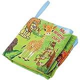 Juguetes Educativos Colorido Libro de Paño Temático Suave Bebés Niños - Animal Salvaje