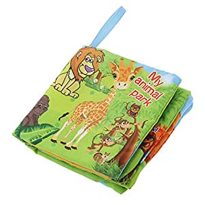 Kids Animal Park Theme Cloth Book with Bright Color Pictures Toddler Baby Learning Toys