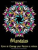 Mandalas: 95 Mandalas pour adultes sur fond noir pour des couleurs fantastiques | Modèles de coloriage gratuits au format PDF pour impression...