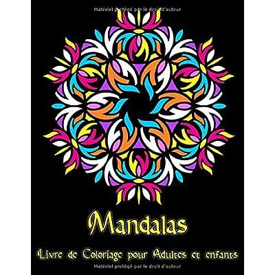 Mandalas: 95 Mandalas pour adultes sur fond noir pour des couleurs fantastiques | Modèles de coloriage gratuits au format PDF pour impression