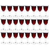El plástico rojo/blanco copas de vino al aire libre - 285ml (10 oz) - Paquete de 24