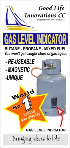 Magnetic Gas Bottle Gas Level Indicator for the Caravan, Motorhome or Camping Butane Propane