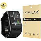 Garmin vivoactive HR Screen Protector [4 Pack], KIMILAR Tempered Glass Screen Protector for Garmin Vivoactive HR Ultra High Definition Invisible and Anti-Bubble Crystal Shield -with Free Replacement Warranty