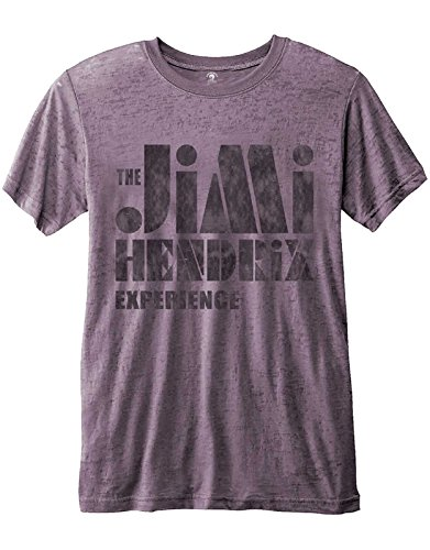 Jimi Hendrix T Shirt Stencil Logo Vintage Nue offiziell Herren Purple Burnout (Hoodies Jimi Hendrix)