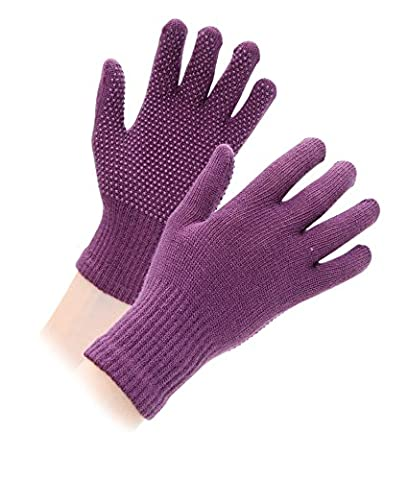 Shires Equestrian kid's Sure Grip Gloves - Purple, One