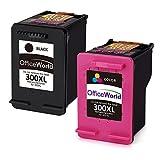 OfficeWorld 300XL Cartucce Remanufactured HP 300 Cartucce d'inchiostro Compatibile con HP Envy 100 110 120, HP Deskjet F4580 D1660 F2480, HP PhotoSmart C4680 C4780 F4500 (1 Nero, 1 Colore)