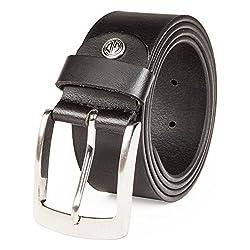 4cm Ampio Cintura Uomo Donna in Vera Pelle Cintura Di Pelle Bovina Nero Jeans