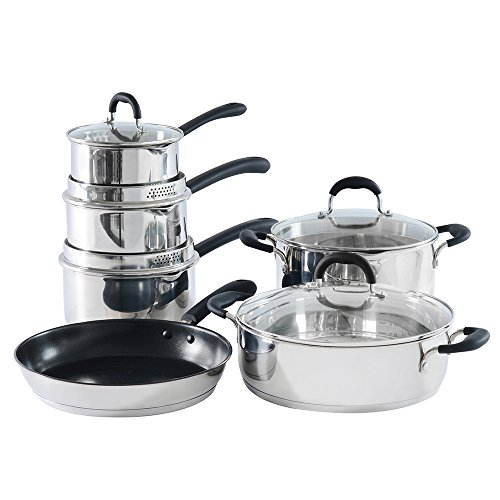 ProCook Gourmet Stainless Steel Induction Cookware Set 6 Piece - PRIME SUMMER DEAL!