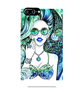 ANIMATED GIRL IN DUAL COLOUR GET UP 3D Hard Polycarbonate Designer Back Case Cover for Apple iPhone 7 Plus