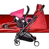 SKYyao Kinderwagen,Sportwagen,Kinderwagen Autositz Multifunktions leichte Falten Suspension Kinderwagen