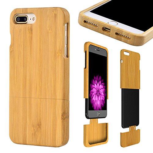 frixie (TM) naturale fatto a mano in legno di bambù Cover posteriore rigida per iPhone 7/6/6Plus Cover 4.75.5ambientale Iphone 6 Iphone 7