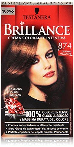 Testanera - Brillance, Crema Colorante Intensiva, 874 Castano Vellutato
