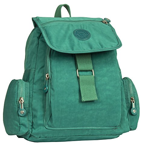 Big Handbag Shop, Borsa a zainetto donna Backpack Style 5 - Turquoise