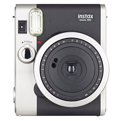Fujifilm instax mini 90 neo classic fotocamera istantanea, formato 62x46 mm, nero/argento