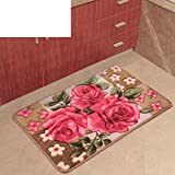 European-Style Eingang Fußmatten/Schlafzimmer Badvorleger und Flur Küche Pratunam Pad/[Küche Vorzimmer saugfähige Fußmatte]-B 80x150cm(31x59inch)