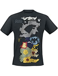 Game of Thrones Westeros Sigils Map T-shirt noir