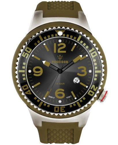 Kienzle Men's Quartz Watch POSEIDON XL K2011013103-00383 with Rubber Strap
