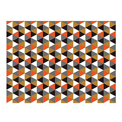 Lo + deModa Orange Rhombus Tischdecke, Baumwolle/Leinen, mehrfarbig, 140x 100x 0.06cm