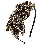 Discoball elegante fiore fascia piuma cappello fascinator matrimonio copricapo da donna Day Race Royal Ascot Black+Gold