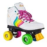 Rookie Forever Rainbow V2Rollschuhe mit 4Rollen, Unisex, für Kinder 37 Weiß/Mehrfarbig