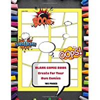 Blank Comic Book Create For Your Own Comics: Templates Of Fun Draw Your Own Comics - Express Your Kids or Teens Talent and Creativity with This Lots ... Large Print 8.5 x 11 Inch 105 Pages (Vol.12)