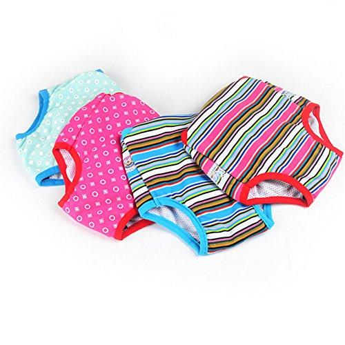 Zrong Haustier Waschbare Schutzhose Unterhose Unterwäsche Sicherheit Einstellbar Hunde Kleidung Hunde Hose Pant Panty Windel fuer Weibliche Zufällige Farbe - 2
