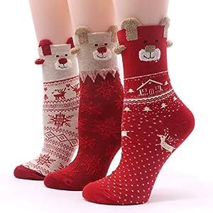 LILIKI@ 5 Paar Cartoon Frauen Chrismas Socken Nette Bunte Hund Weibliche Socke Lustige Mode Winter Socken Mädchen Warme Kunst Socke Tier