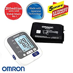 Omron HEM 7130L Fully Automatic Digital Blood Pressure Monitor With Large Cuff, Intellisense Technology & Cuff Wrapping Guide For Most Accurate Measurement