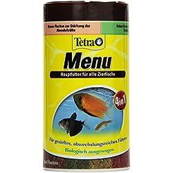 TetraMin Menu Hauptfuttermix (für alle Zierfische, 4 verschiedene Flocken in 4 getrennten Kammern, ideal für Fische sämtlicher Wasserzonen), 250 ml Dose