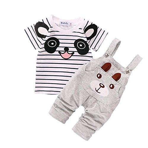 Conjuntos de ropa, Dragon868 Cute niño correas pequeño oso rayado de manga...