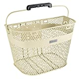 Electra Bicycle Electra Fahrrad Linear QR Lenker Korb Halterung Front Universal Edelstahl Beach Cruiser Bike Mesh, 5409, Farbe Cream