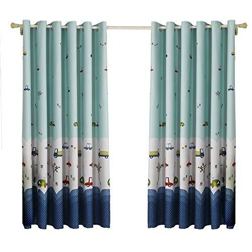 Wifehelper Kleiner LKW-Blackout-Vorhang Verdunkelung Thermisch isolierte Blackout-Tülle-Fenster-Vorhang für Wohnzimmer Schlafzimmer (Vorhänge Für Blackout Schlafzimmer)