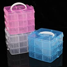 Rishil World Clear Storage Box Case Plastic Container Organizer For Jewelry Bead